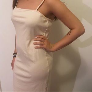 Topshop Nude Cami Dress